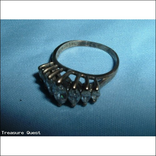 .925 Silver Ring with White Stones