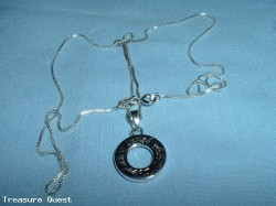 .925 Silver Necklace with Silver Laugh Pennant